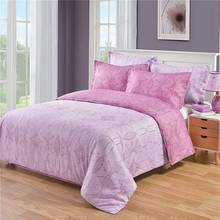 Urijk 1set Twin Queen King Size Polyester Bedclothes Pillow duvet cover Bedding Set Home Accessories Full Size Bedding Pink