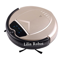 Robot Vacuum Cleaner,Two Side Brushes,LED Touch Screen.with Tone,HEPA Filter,Schedule,Remote Control, Virtual Blocker,AutoCharge