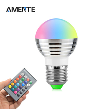 1PCS E27 AC 110V 220V 230V 240V RGB LED Ball Bulb Color Changeable Night Light For Party Holiday Decoration Lamp + EU Plug
