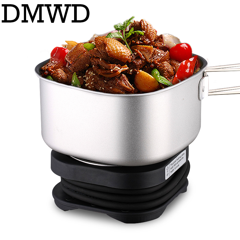 DMWD Dual Voltage Travel rice Cooker Portable Mini Electric stew soup pots cooking Machine Student hotpot food steamer 110V 220V<br>