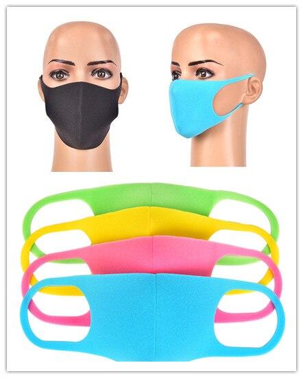 3pcs Unisex Mouth Mask Black Cotton Blend Anti Dust And Nose Protection Face Mouth Mask Fashion Reusable Masks Hot