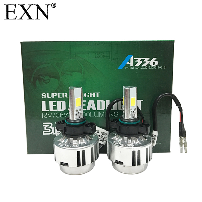 A336 All-In-One 6000K H16 5202 72W LED Headlight Fog Lamp Kit 6600LM A336 Serices LED Headlamp Bulb 5202 with fan Good Quality<br>