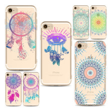 Colorful Flower Mandala phone Cases For Iphone 6 6s 6Plus 7 7s 7plus Soft TPU Silicon Ultra-Thin Wonderful Phone Cover Case