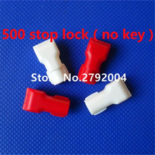 500pcs/lot EAS anti-theft stop lock for retail display security hook stem&peg stop lock (no  magnetic detacher keys!!!)