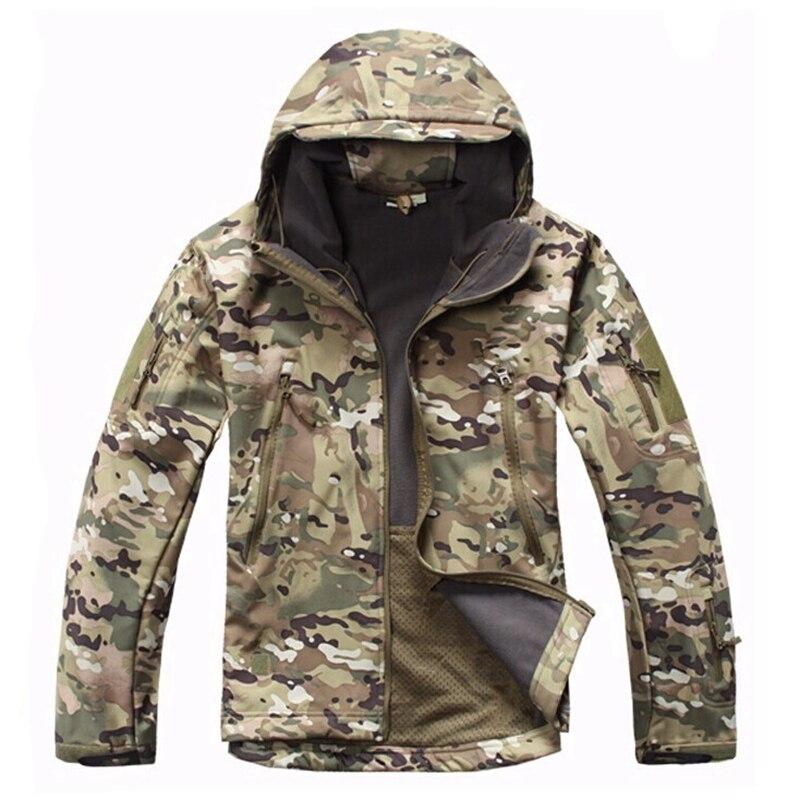 Camouflage TAD V4.0 Jacket Lurker Shark Skin Soft Shell Tactical Jacket Waterproof Windproof Sports Jacket Multicam<br>
