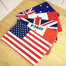 High Quality Door Mats American/England/Canada flag Rugs Coral Rug Dining Room Home Bedroom Carpet Floor Mat 40*60cm