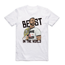 2017 S-XXX Men CM Punk Best in The World Digital Printed T-shirt Short sleeve O-Neck Casual Summer fashion Swag Tshirt(China)