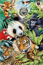 5D Diamond embroidery animals diamond cross stitch Kit crystal round diamond sets unfinish decorative Diy Diamond painting panda