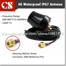 Free shipping 4G MIMO External Antenna Huawe B593 B315 B880 SMA male(inner pin),1m cable lte modem antenna