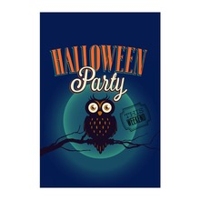 Decorative Garden Flags For Halloween Day The Party With Owl Moon Designed With Double Sided Print Outdoor And Indoor Banners(China)