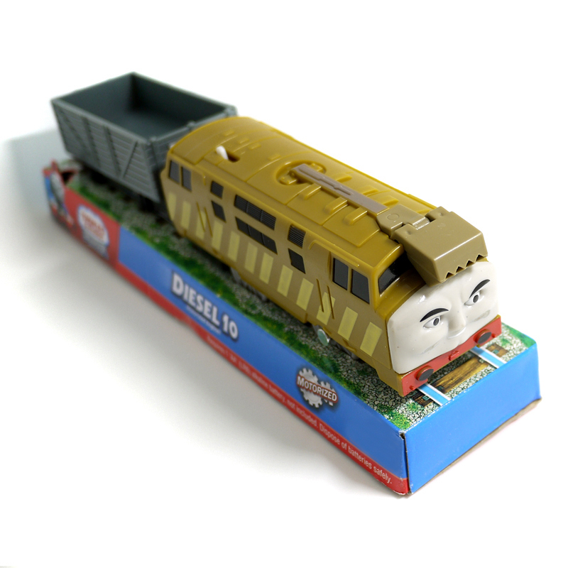 T0207 Electric Thomas and friend Diesel 10 &carriage Trackmaster engine Motorized train Chinld kids toys gift with package NIB(China (Mainland))