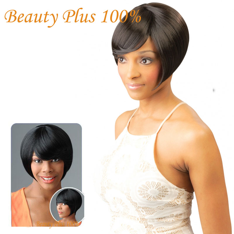 Cheap Sale Top Quality Heat Resistant Hair Wigs Short Bob Wigs Glueless Synthetic Lace Front Wigs/None Lace Wigs Hot Selling<br><br>Aliexpress