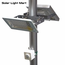 Guardian 580X Easy Install Waterproof Outdoor Solar Powered Motion Sensor PIR LED Pole Light lithium battery 84 LED 3 Power mode(China)