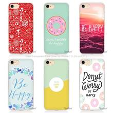 Hot Sale Be Happy Choose Hard Transparent Phone Case Cover Coque for Apple iPhone 4 4s 5 5s SE 5C 6 6s 7 Plus
