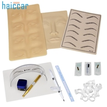 Hot Popular Permanent Makeup Microblading Eyebrow Tattoo kit Pen Needle Paste Skin Ruler Oct 14(China)
