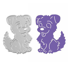 Cute Dog Metal Cutting Dies Stencils DIY Embossing Scrapbooking Decorative Paper Card Craft