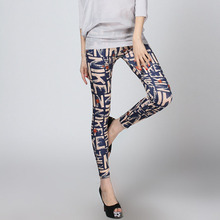 New Lady's Letters Printing Punk Sexy Stretchy Tight Pencil Skinny Pant(China)
