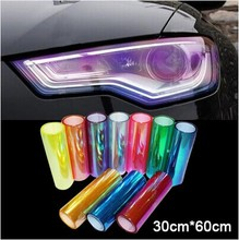 30*60CM/LOT Shiny Chameleon Auto Car Styling headlights Taillights Translucent film lights Turned Change Color Car film Stickers