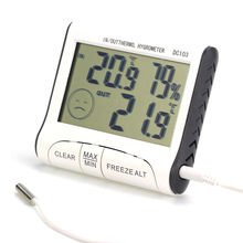 Weather Station Household Indoor and Outdoor Use Temperature Humidity Meter Temperature Display Thermometer Hygrometer DC103