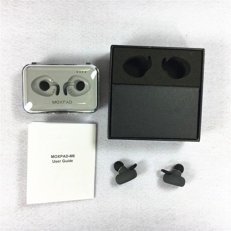 Original Moxpad M6 Double Ear Headphones Bluetooth Earphone Mini Wireless In-Ear Earpiece With Mic Phone Sports Handfree Headset