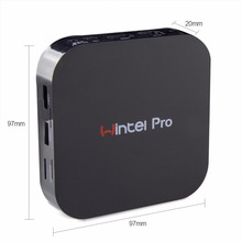 Wintel Pro W8 TV Box Win10 Mini PC Z8300 4cores 2GB/32GB Bluetooth 4K*2K HDTV Smart TV W8 Pro STB Multimedia Player(China)