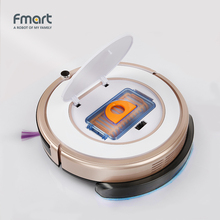 Fmart Mini Robot Vacuum Cleaner Battery Dry&Wet Mopping Sweep For Home Appliances Dust Cleaners 3 in 1 Vacuums Wet Mopping ZJ-C1(China)
