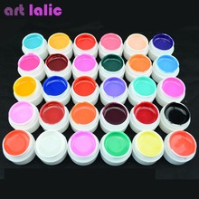 Artlalic 1 Bottle Hot Selling Pure Colors UV Gel Nail Manicure for LED UV Lamp Gel Polish Solid Color Nail Art Gel Varnish 4ml(China)
