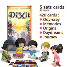 Dixit English board game gather 420 cards odassey/origins/journey/daydreams/memories gift box jogo dixit juego,mtg magic