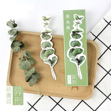 30 pcs/box Heteromorphism Fresh plant paper bookmark stationery bookmarks book holder message card school supplies papelaria