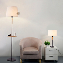 lamps The new Nordic modern floor light living room lamp room bedroom bedside decorative cloth hotel NEW wood floor lamps(China)
