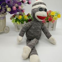 SOCK MONKEY TY BEANIE BABIES 1PC 40CM Monkey Stuffed animals KIDS TOYS VALENTINE GIFT children toy SOFT TOY(China)