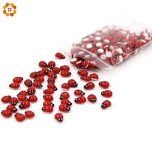 Mini 1Pack=200PCS Self-adhesive Red Wooden Ladybug Sponge Stickers Cute Baby Fridge Magnets For Home Decoration Scrapbooking(China)