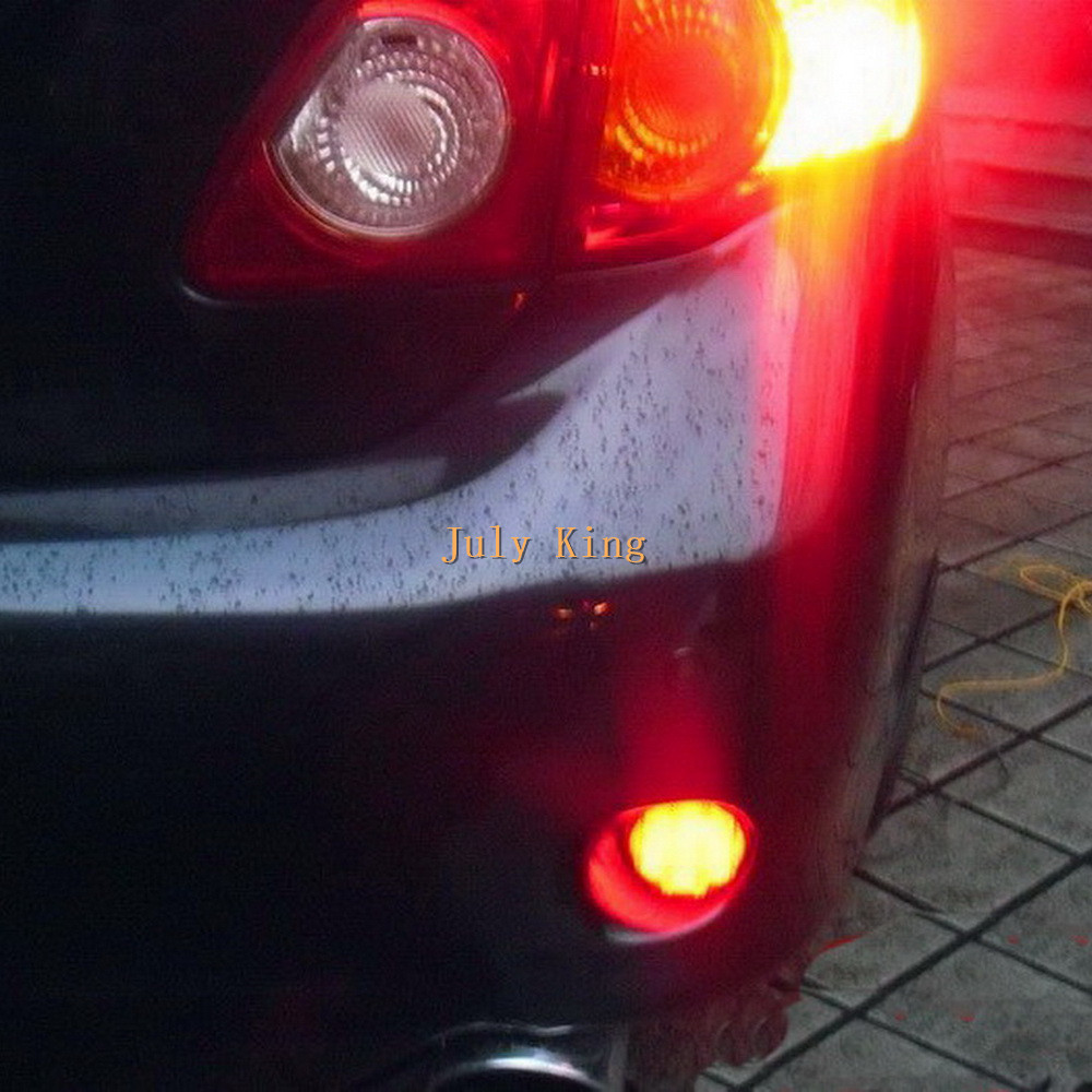 July King 6.8CM Hemispherical LED Brake Lights + Night Running Lights case for Nissan Qashqai X-TRAIL and Toyota Corolla 2007~10<br>