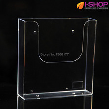 Acrylic Counter Top/Wallmount Brochure Holder Single Pocket Holder a5 PZG-015(China)