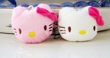 Sweet Kawaii 2Colors - Hello Kitty 4CM Plush Stuffed TOY DOLL , Pendant Wedding Bouquet Gift Plush Toys Dolls