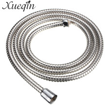 Xueqin Stainless Steel Shower Head Hose Pipe 2m Long Standard Chrome Flexible Bathroom Bathroom Tool(China)