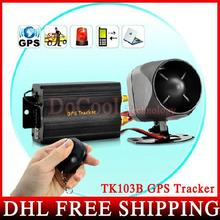 10PCS DHL Fedex Car Gps Tracker Remote Control Tk103b Mobile Phone Tracking Web&free Pc Gps Monitor System Gps 103B
