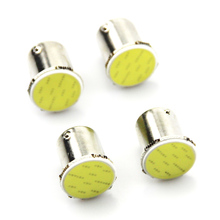 4x Free Shipping Super White cob p21w led 12SMD 1156 ba15s 12v bulb RV Trailer Truck car styling Light parking Auto led Car lamp(China)