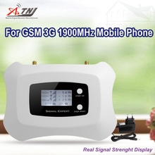 Full Intelligent 1900mhz 2g 3g mobile signal booster cell phone signal repeater amplifier for  GSM 2G 3G,Only Booster+adapter