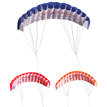 1Pcs Outdoor Fun Double Line Kite Rainbow 30m Two Lines Controled Sports Beach Kite with Handle for Kids Adults Easy to Fly K5BO