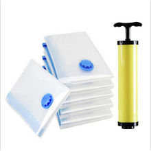 Storage vacuum bags one-pipe suction tube manual air pump Hand Air Vacuum Pumps