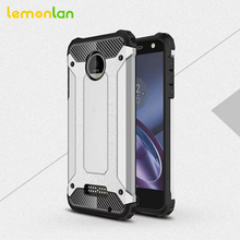 Lemonlan For Motorola Moto Z Z Force Z Play Phone Case Anti-Shock Silicone Rugged Rubber Hybrid Hard Cover for motoZ Driod Shell(China)