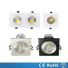 1PCS high power aluminum led cob dimmable ceiling light lamp AC110V-230V 7W 9W 12W 14W 18W 24W Square cob led downlight CE&ROHS