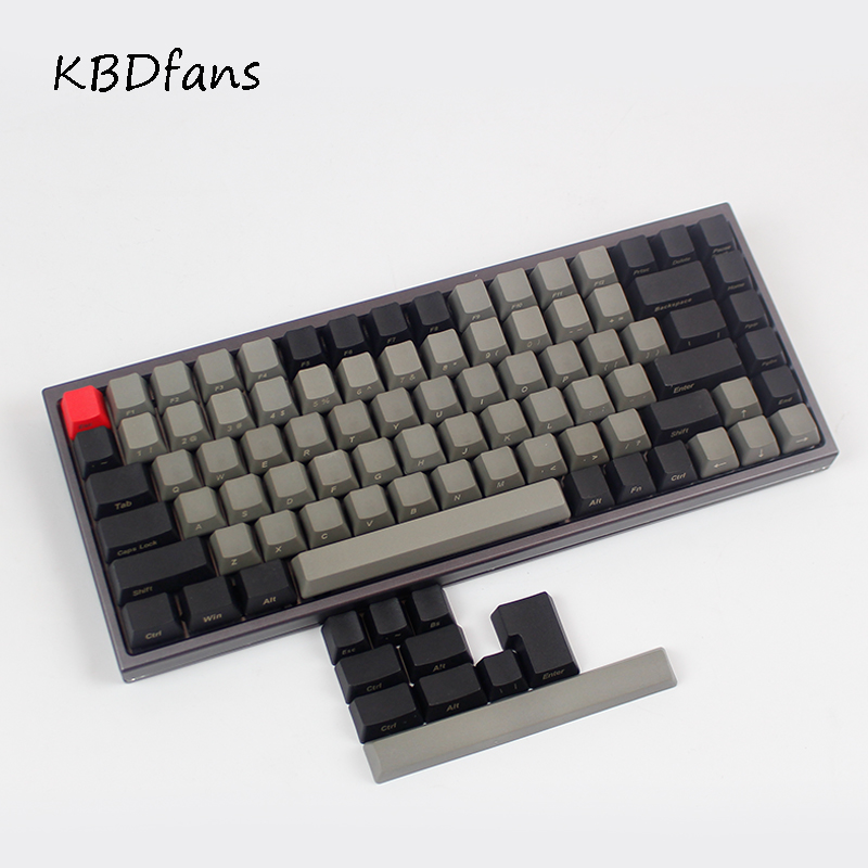 Thick pbt 84 side printed  Keycap High wear resistance For OEM Profile Cherry MX Switches Wired USB Mechanical Keyboard Keycap<br><br>Aliexpress