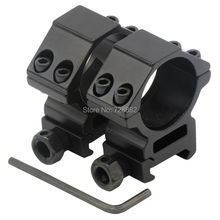 2x Tactical 30mm Scope Mount Flashlight Laser Sight Rings Medium Profile Picatinny Weaver 20mm Rail Mount Hunting Accessories(China)