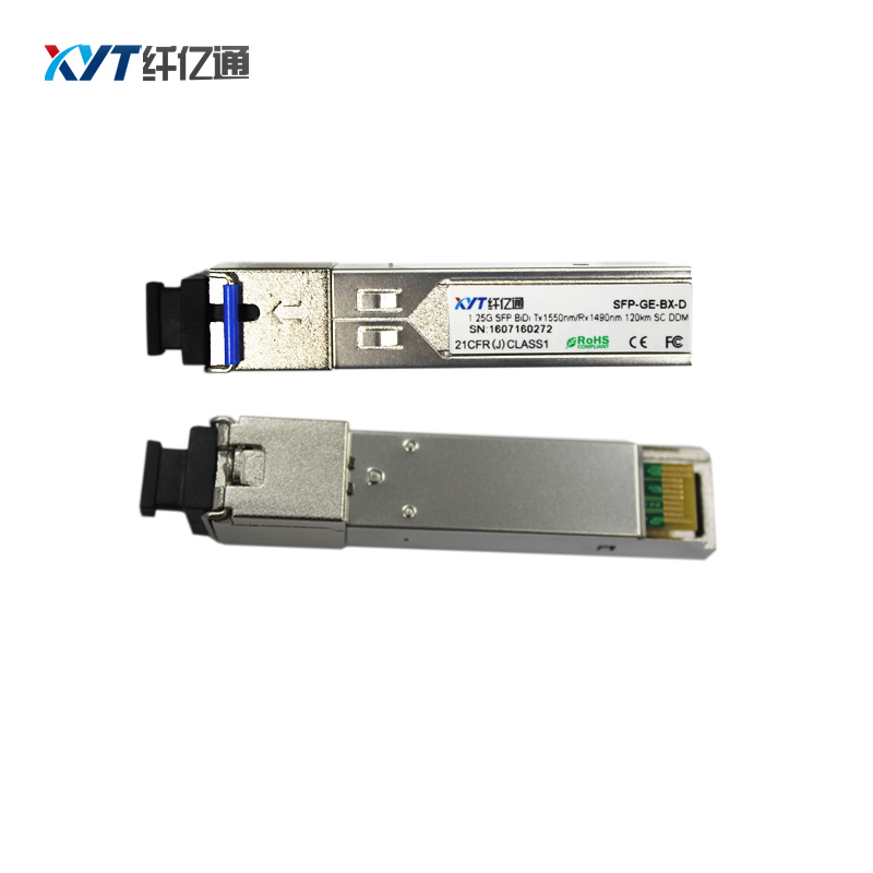 120KM T1550R1490nm SFP 1.25G