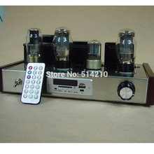 2017 NEW LED shown With radio USB MP3 decoder 6n9p 6p3p tube amplifier with Remote control support U/SD/MMC(China)