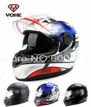Eternal YOHE double lenses full face motorcycle helmet run motorbike helmet made of ABS YH-952-RR built-in UV protection lens