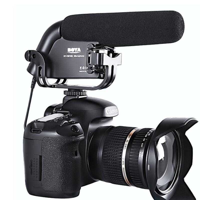 BOYA BY-VM190  microphone with Windshield For DSLR video cameras<br><br>Aliexpress