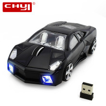 Racing Car Shaped Wireless Mouse Optical USB Mause 1600DPI Mini Computer Mice with LED Flashing Light for Laptop Computer Mice